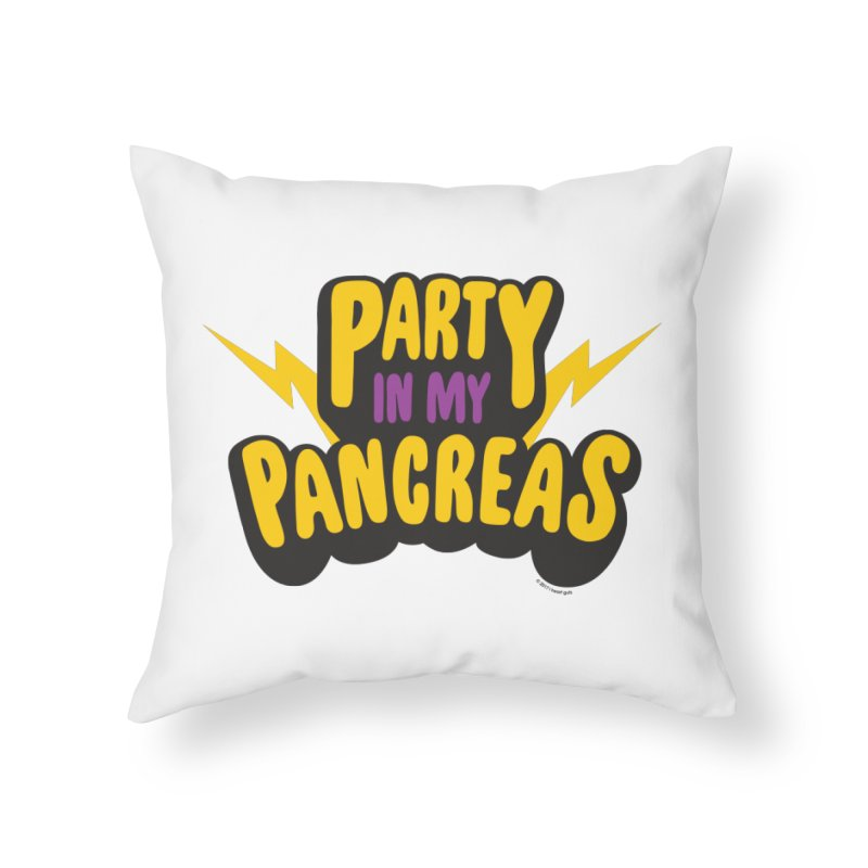 Party in My Pancreas Home Throw Pillow by I Heart Guts