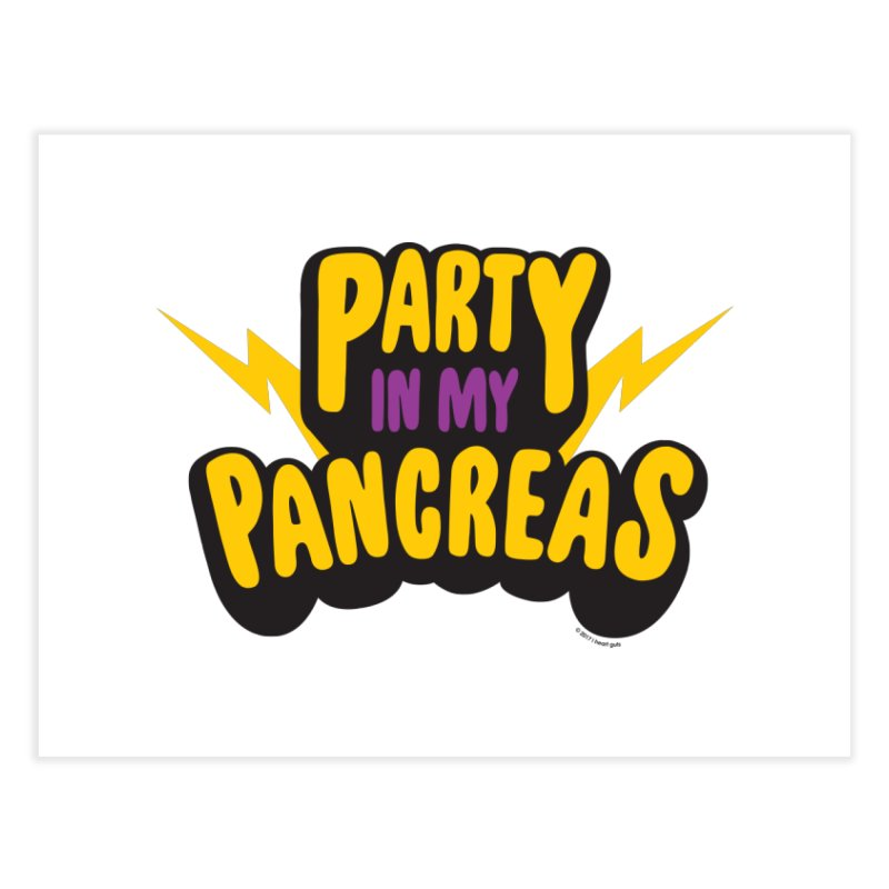 Party in My Pancreas Home Fine Art Print by I Heart Guts