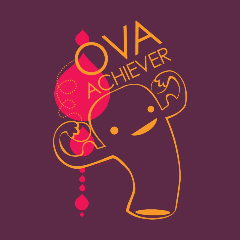 Ova Achiever - Uterus Accessories Beach Towel by I Heart Guts