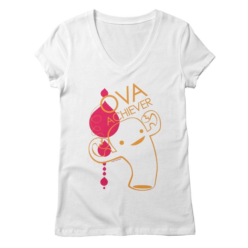 Ova Achiever Women's V-Neck by I Heart Guts