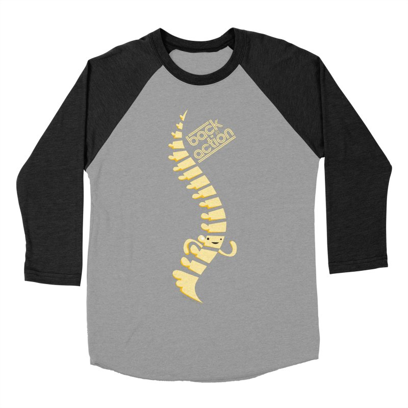 Spine - Back in Action Men's Baseball Triblend T-Shirt by I Heart Guts