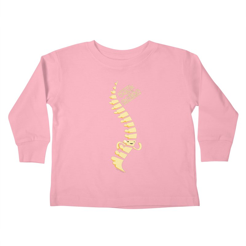 Spine - Back in Action Kids Toddler Longsleeve T-Shirt by I Heart Guts