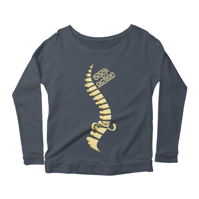Spine - Back in Action Women's Longsleeve Scoopneck  by I Heart Guts