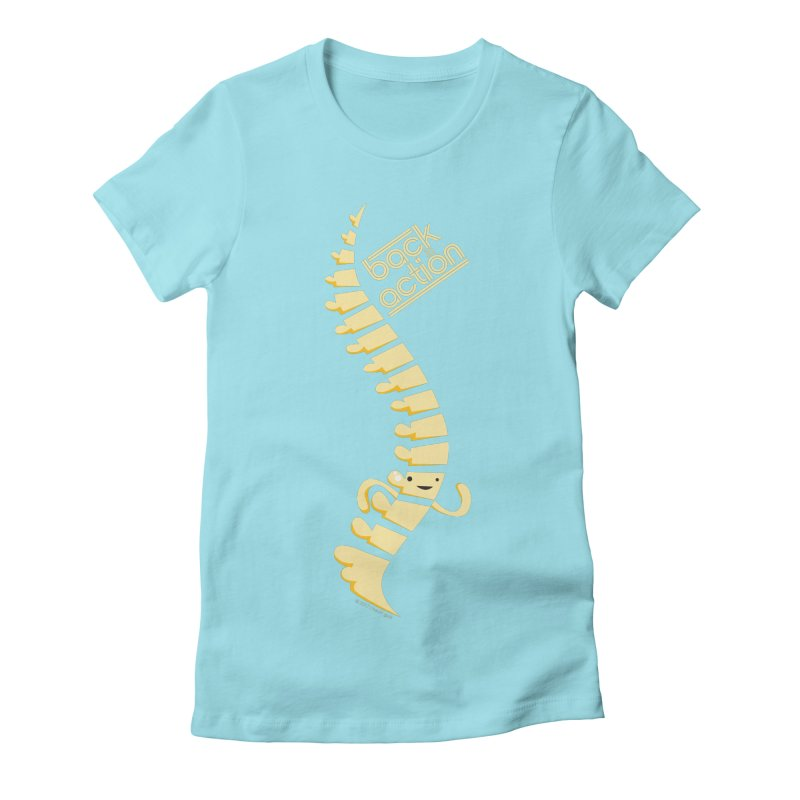 Spine - Back in Action Women's Fitted T-Shirt by I Heart Guts