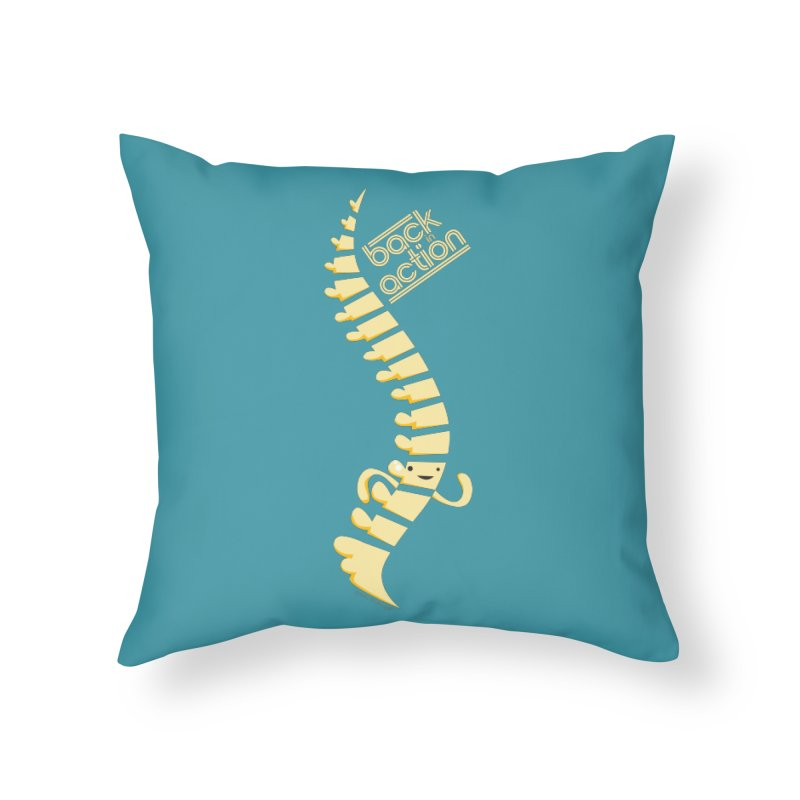 Spine - Back in Action Home Throw Pillow by I Heart Guts