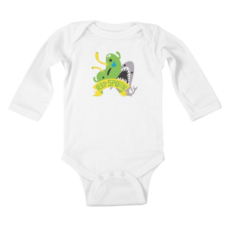 Spleen - Rest in Peace - Splenectomy Kids Baby Longsleeve Bodysuit by I Heart Guts