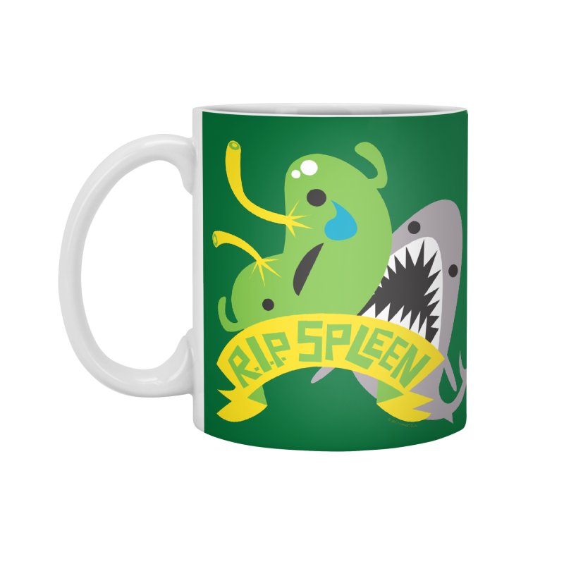 Spleen - Rest in Peace - Splenectomy in Standard Mug White by I Heart Guts