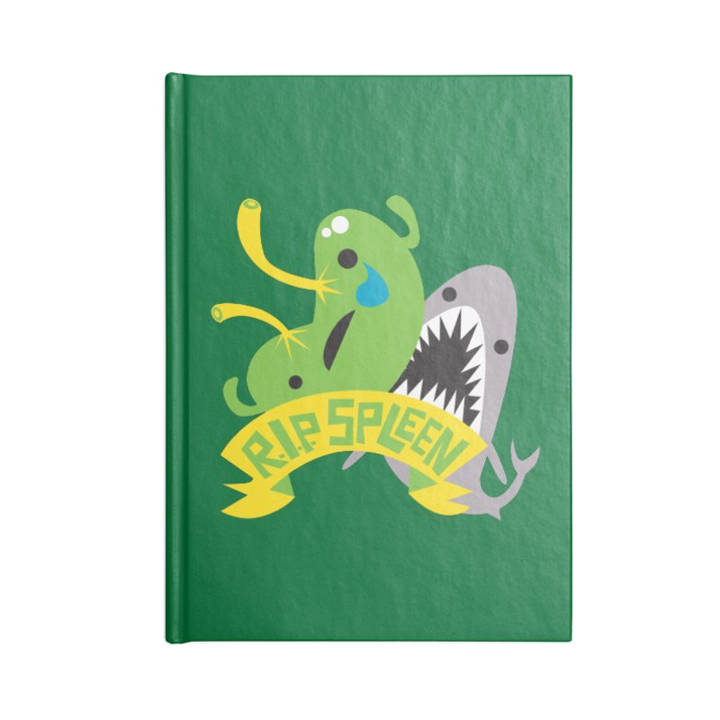 Spleen - Rest in Peace - Splenectomy Accessories Notebook by I Heart Guts