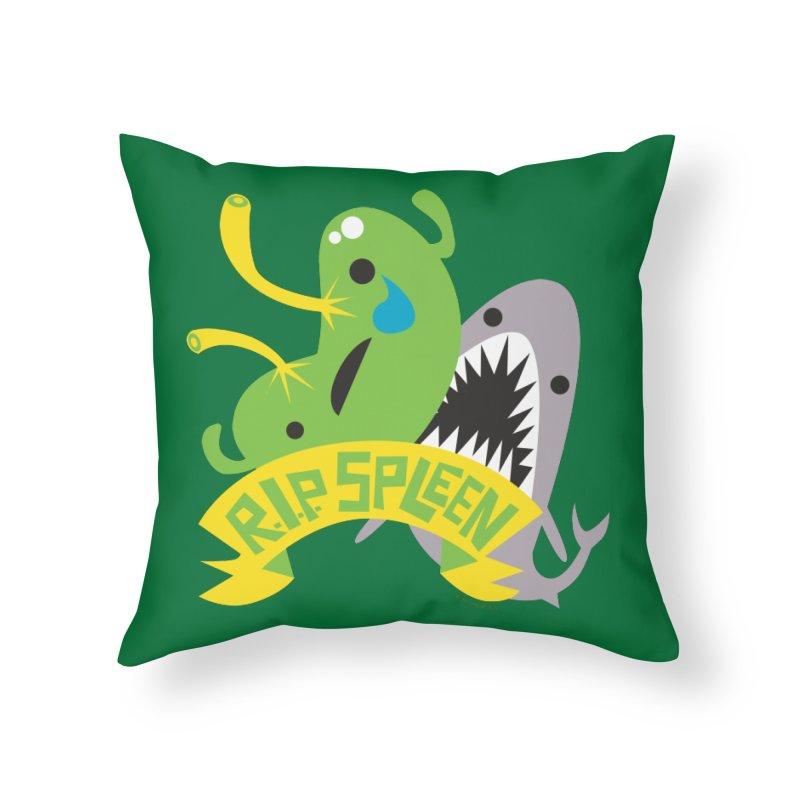 Spleen - Rest in Peace - Splenectomy Home Throw Pillow by I Heart Guts