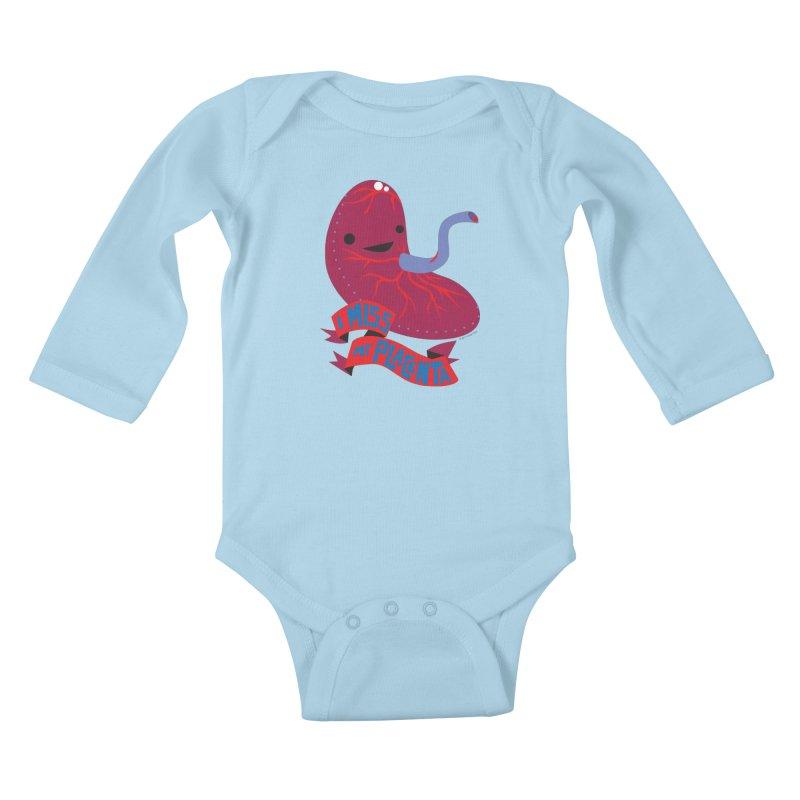 I Miss My Placenta Kids Baby Longsleeve Bodysuit by I Heart Guts
