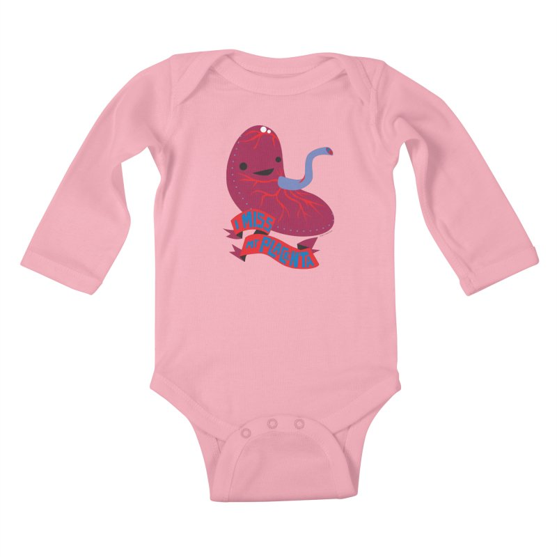 I Miss My Placenta Kids Baby Longsleeve Bodysuit by I Heart Guts