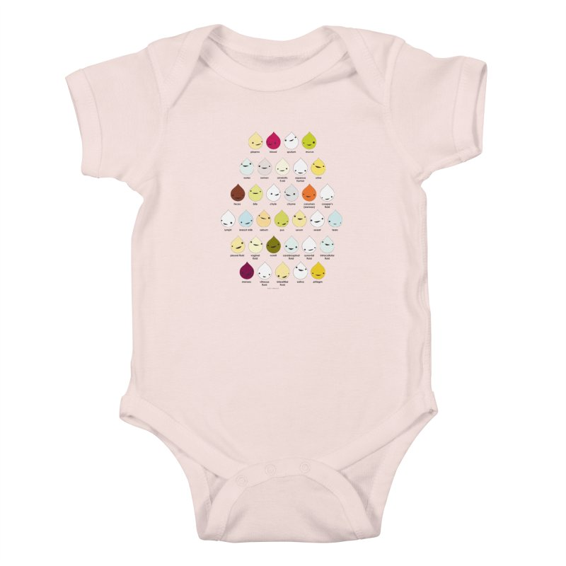 Blood, Sweat, Tears and Chyme Kids Baby Bodysuit by I Heart Guts