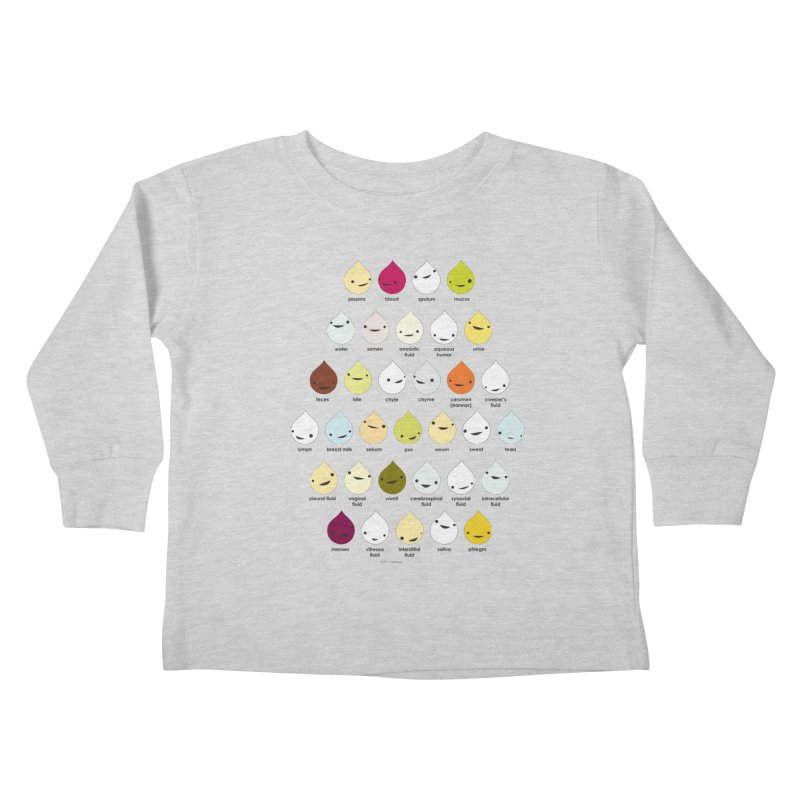 Blood, Sweat, Tears and Chyme Kids Toddler Longsleeve T-Shirt by I Heart Guts