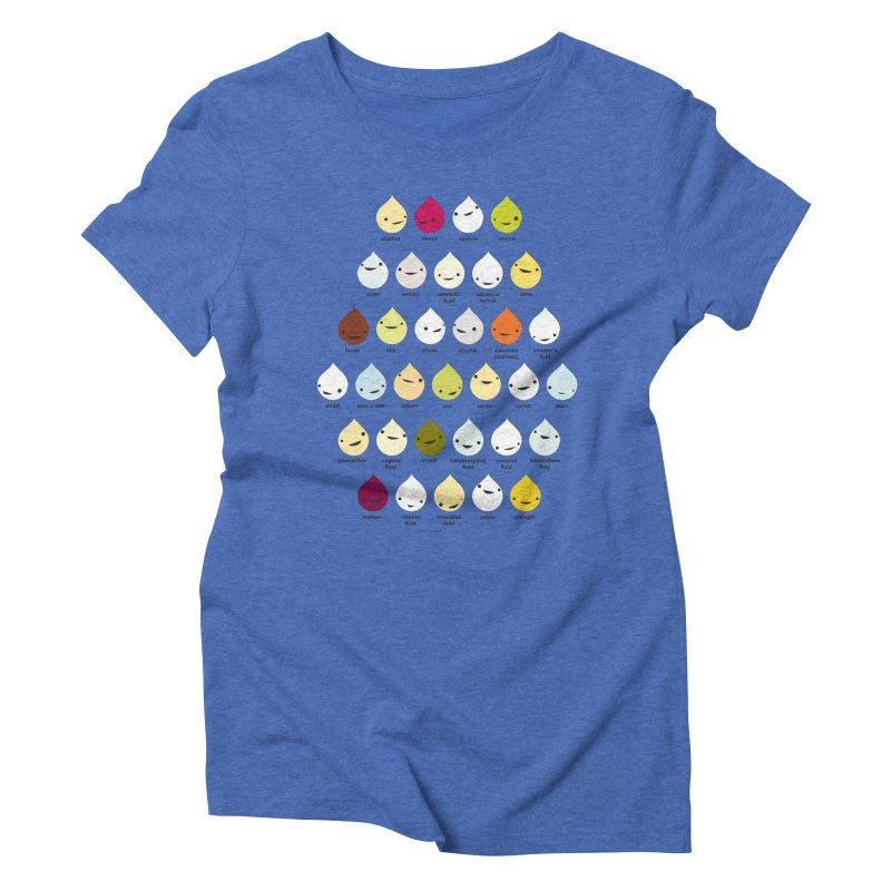 Blood, Sweat, Tears and Chyme Women's Triblend T-Shirt by I Heart Guts
