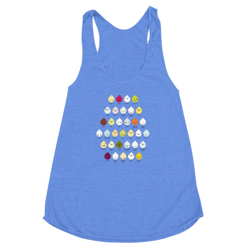 Blood, Sweat, Tears and Chyme Women's Racerback Triblend Tank by I Heart Guts