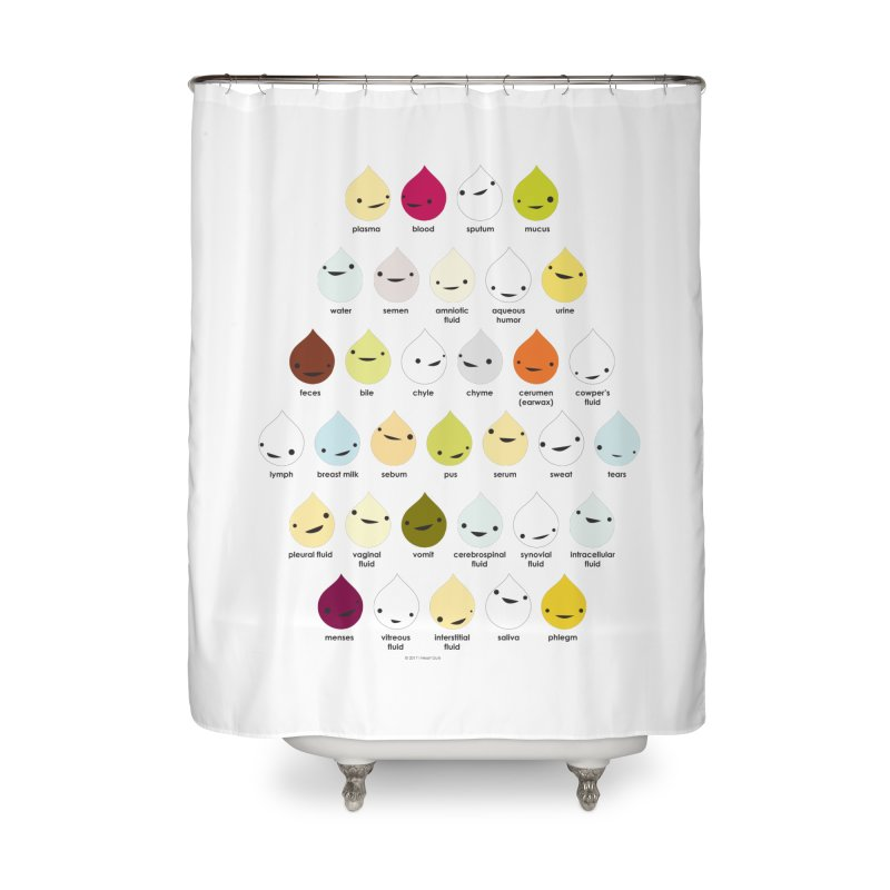 Blood, Sweat, Tears and Chyme Home Shower Curtain by I Heart Guts