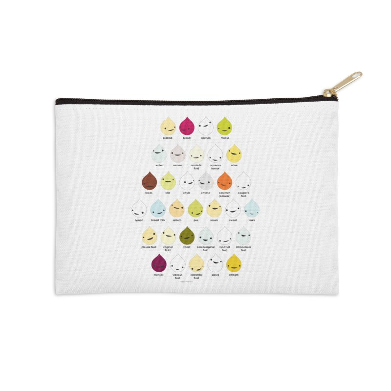 Blood, Sweat, Tears and Chyme Accessories Zip Pouch by I Heart Guts