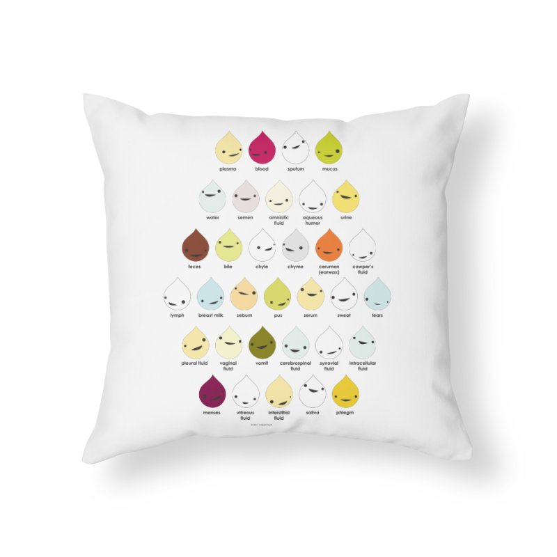 Blood, Sweat, Tears and Chyme Home Throw Pillow by I Heart Guts