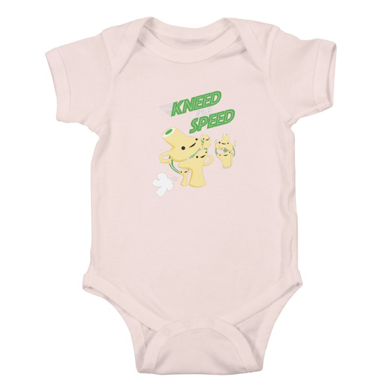 Kneed For Speed Kids Baby Bodysuit by I Heart Guts