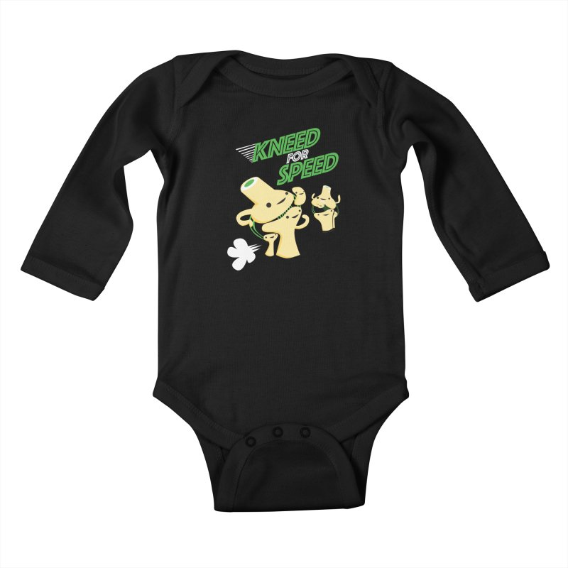 Kneed For Speed Kids Baby Longsleeve Bodysuit by I Heart Guts