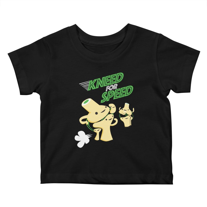 Kneed For Speed Kids Baby T-Shirt by I Heart Guts