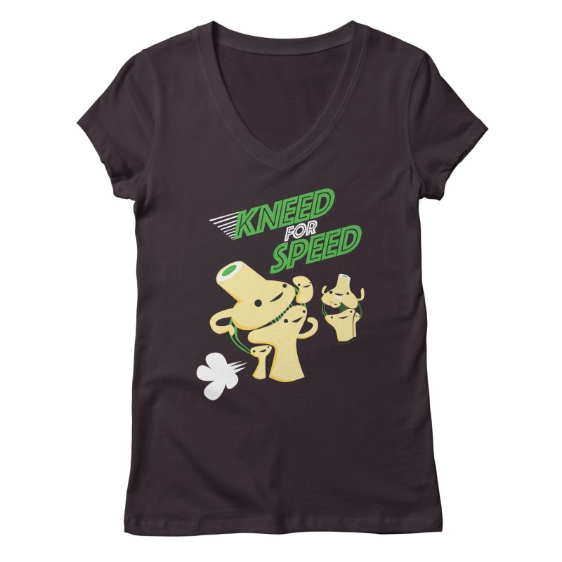 Kneed For Speed Women's V-Neck by I Heart Guts