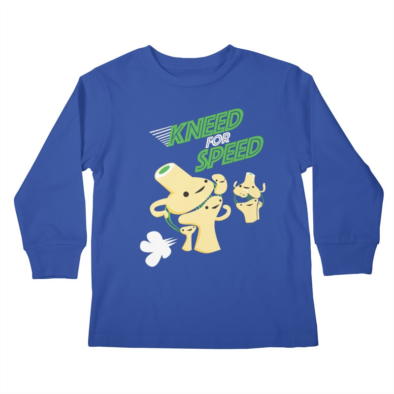 Kneed For Speed Kids Longsleeve T-Shirt by I Heart Guts