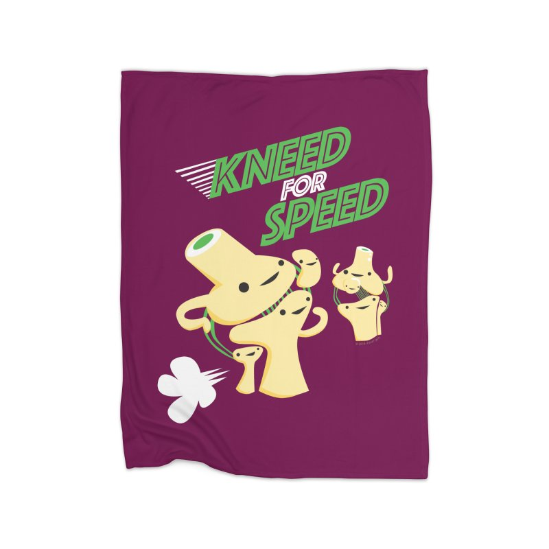 Kneed For Speed Home Blanket by I Heart Guts