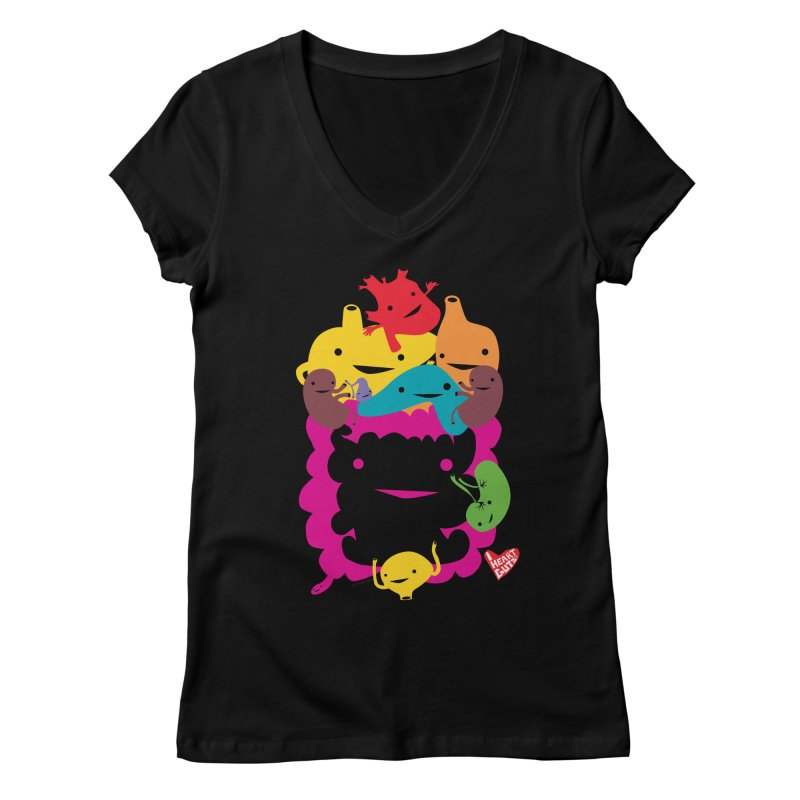 Life Takes Guts Women's V-Neck by I Heart Guts