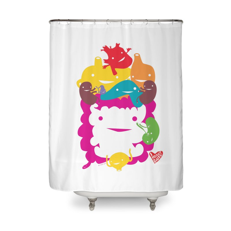 Life Takes Guts Home Shower Curtain by I Heart Guts