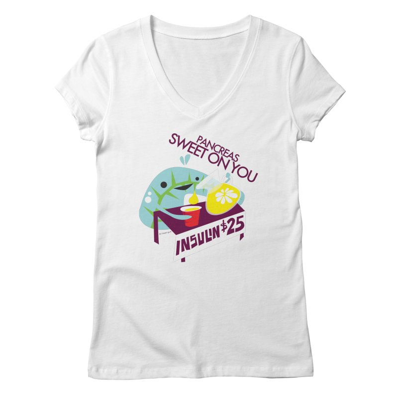 Pancreas - Sweet On You Women's V-Neck by I Heart Guts