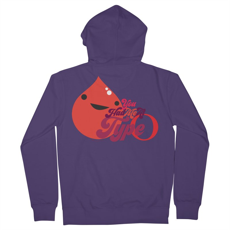Blood - You Had Me at Type O Women's French Terry Zip-Up Hoody by I Heart Guts