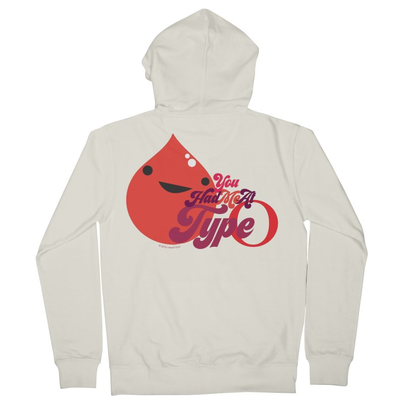 Blood - You Had Me at Type O Men's Zip-Up Hoody by I Heart Guts