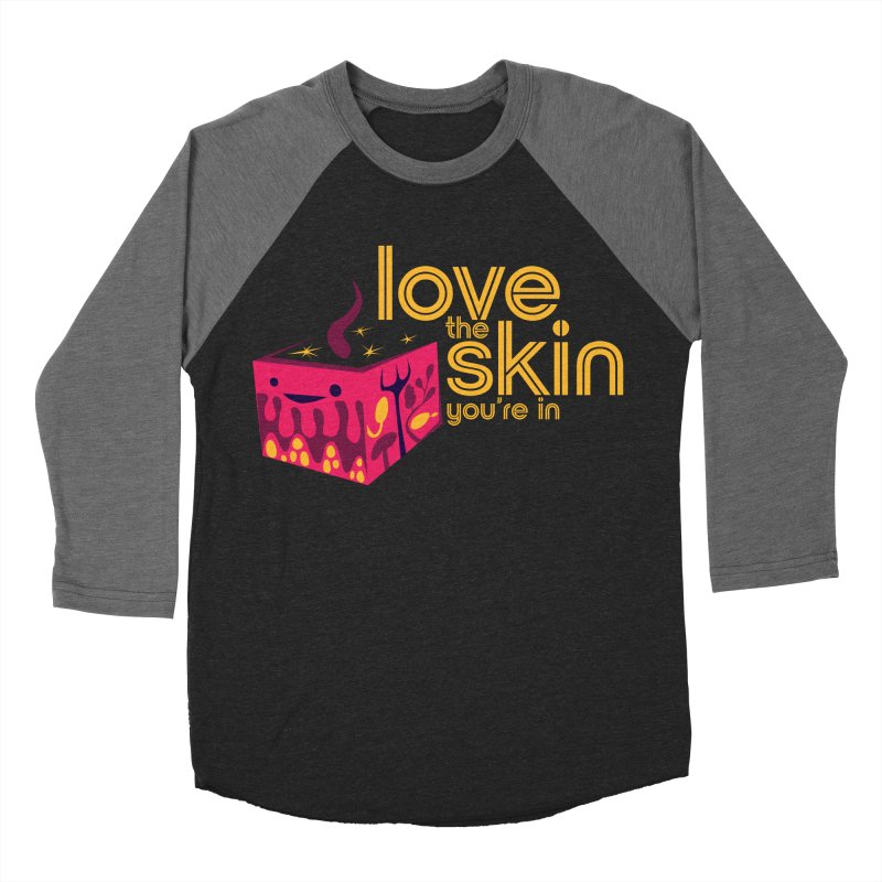 Love the Skin You're In Women's Baseball Triblend Longsleeve T-Shirt by I Heart Guts