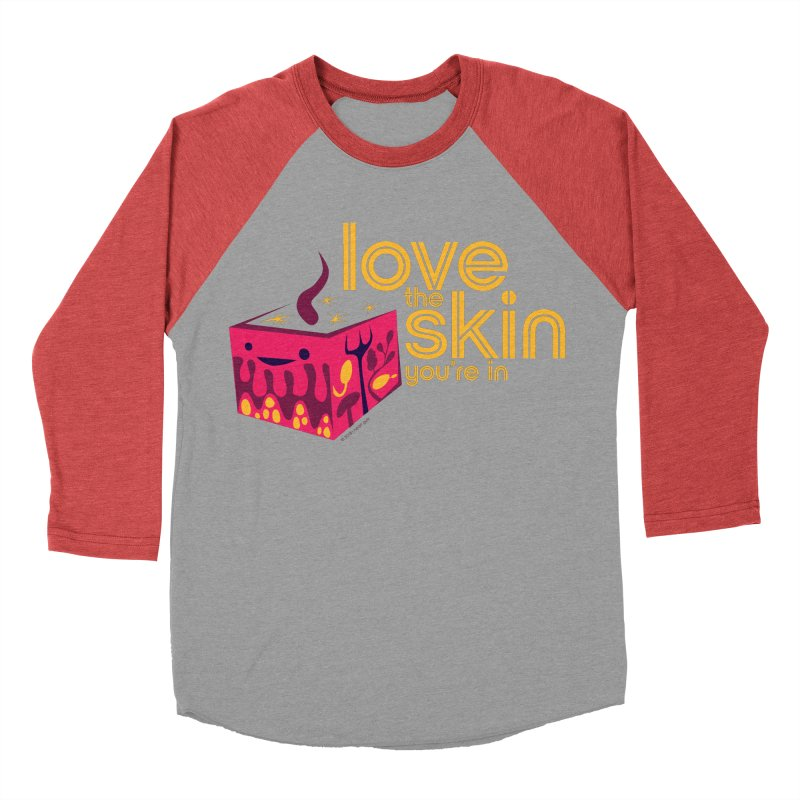 Love the Skin You're In Men's Baseball Triblend Longsleeve T-Shirt by I Heart Guts