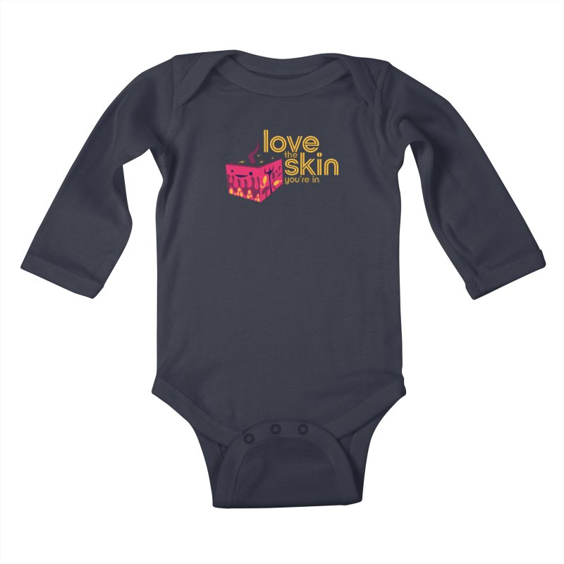 Love the Skin You're In Kids Baby Longsleeve Bodysuit by I Heart Guts