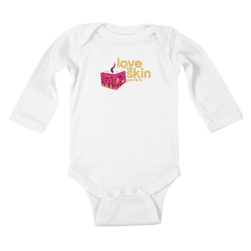 Love the Skin You're In Kids Baby Longsleeve Bodysuit by I Heart Guts