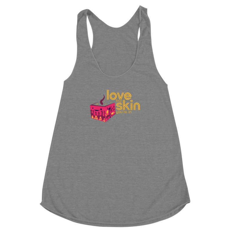 Love the Skin You're In Women's Racerback Triblend Tank by I Heart Guts