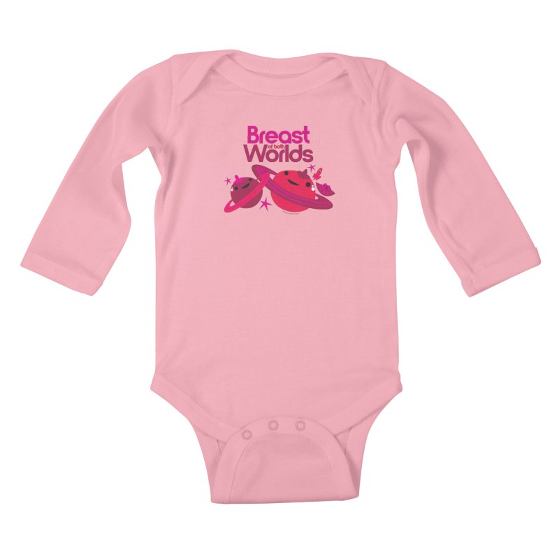 Breast of Both Worlds Kids Baby Longsleeve Bodysuit by I Heart Guts