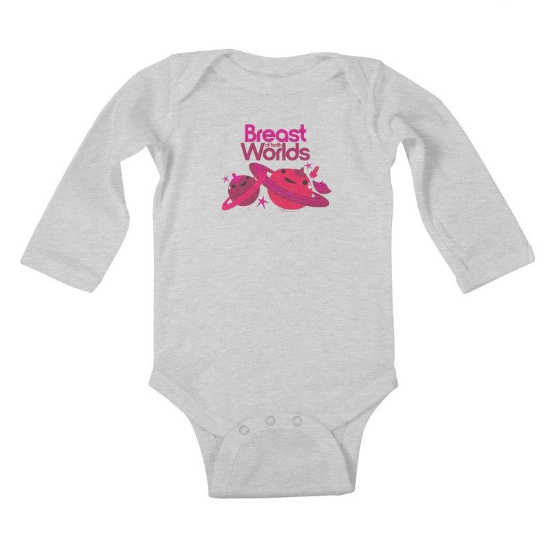 Breast of Both Worlds Kids Baby Longsleeve Bodysuit by I Heart Guts