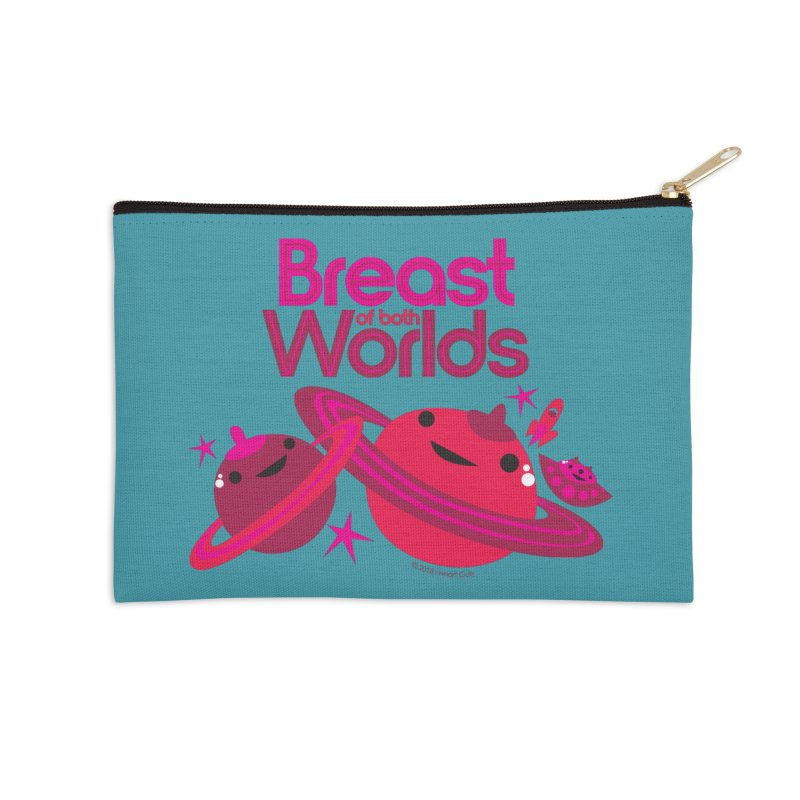 Breast of Both Worlds Accessories Zip Pouch by I Heart Guts