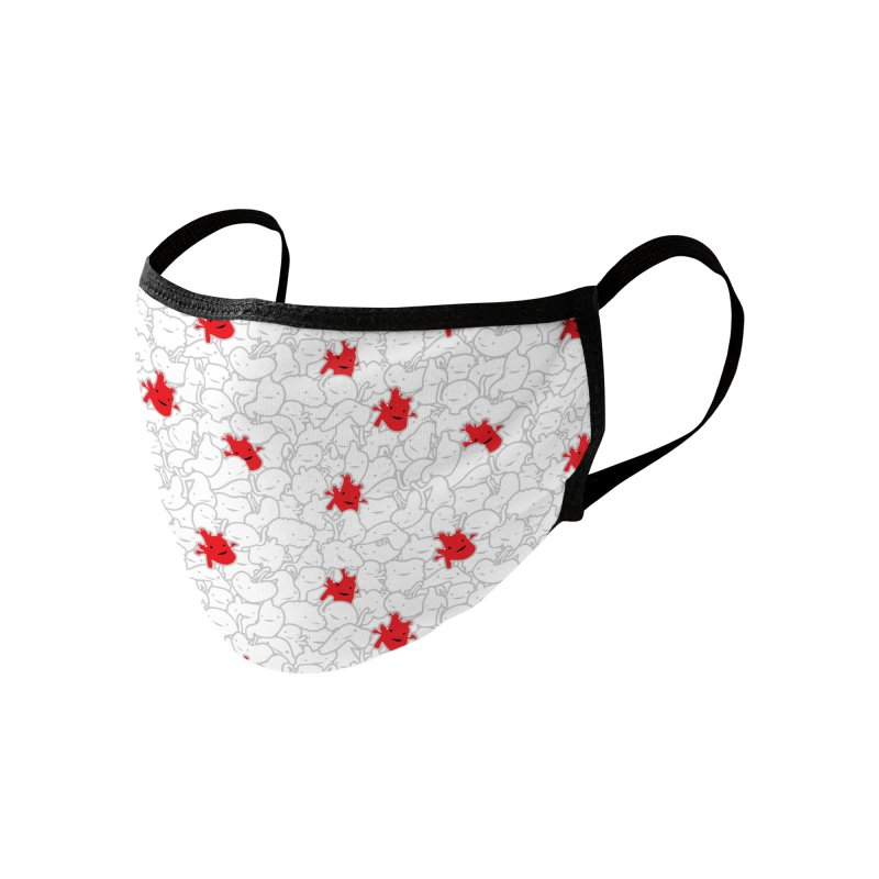 Tiny Hearts Print Accessories Face Mask by I Heart Guts