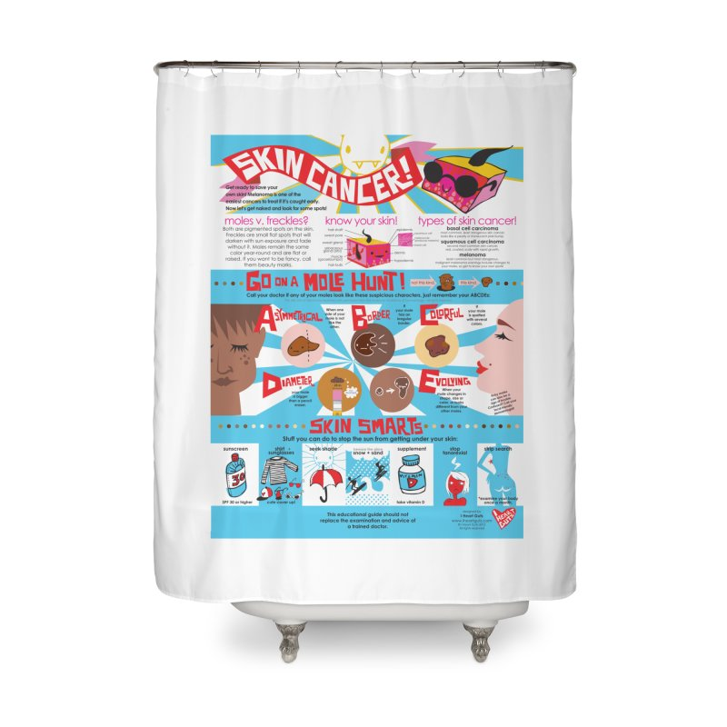 Skin Cancer Self Exam Chart Home Shower Curtain by I Heart Guts