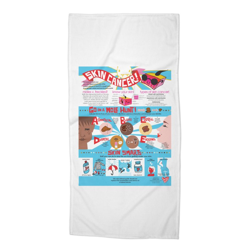 Skin Cancer Self Exam Chart Accessories Beach Towel by I Heart Guts