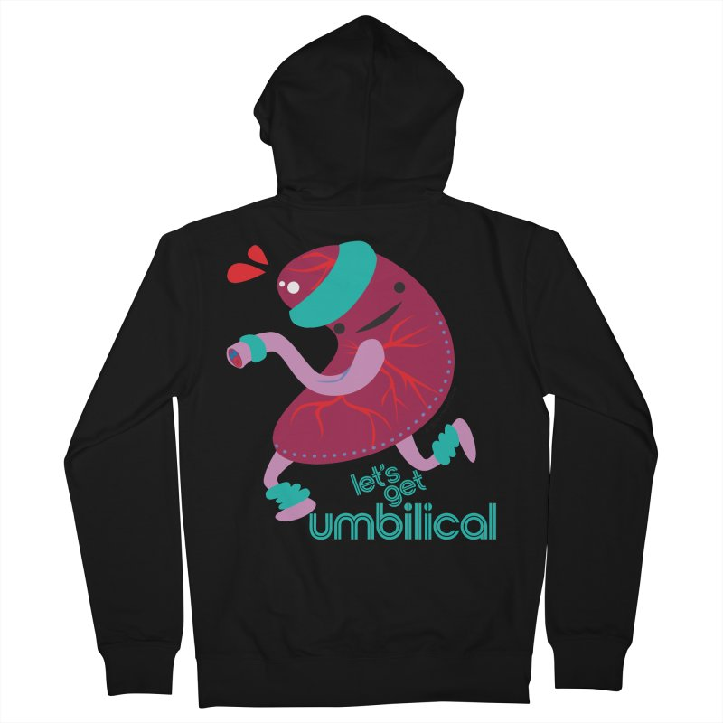 Placenta - Let's Get Umbilical Men's French Terry Zip-Up Hoody by I Heart Guts