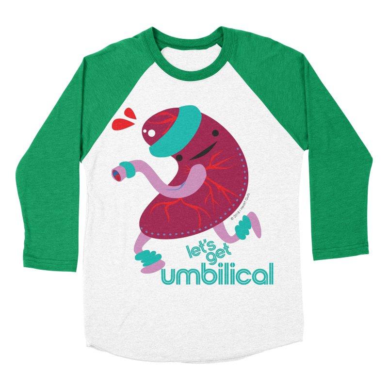 Placenta - Let's Get Umbilical Men's Baseball Triblend Longsleeve T-Shirt by I Heart Guts