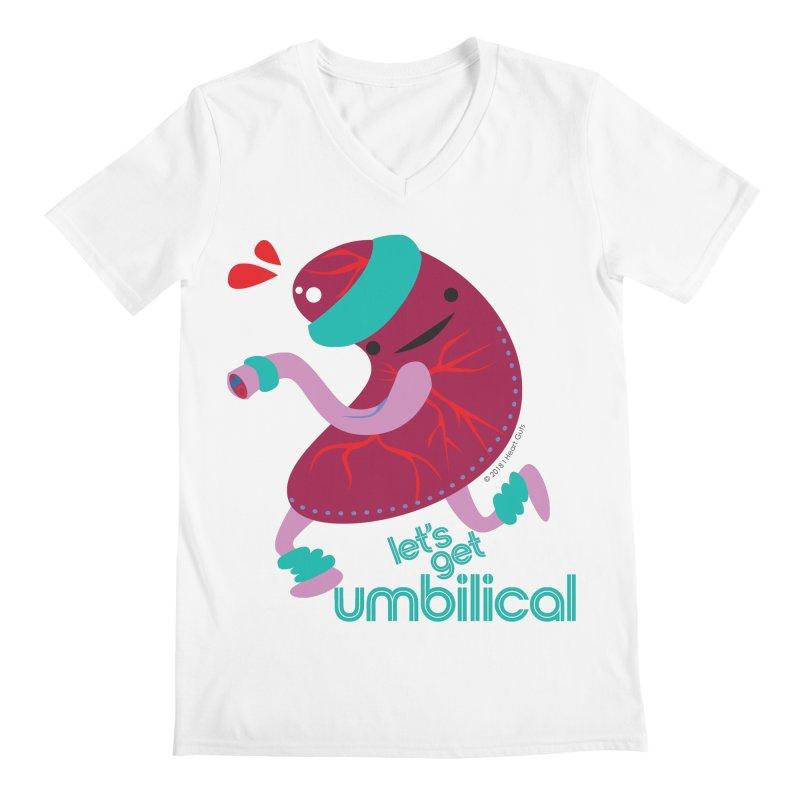 Placenta - Let's Get Umbilical Men's Regular V-Neck by I Heart Guts