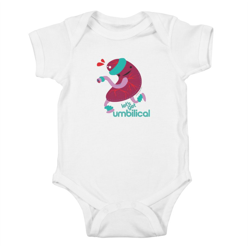 Placenta - Let's Get Umbilical Kids Baby Bodysuit by I Heart Guts