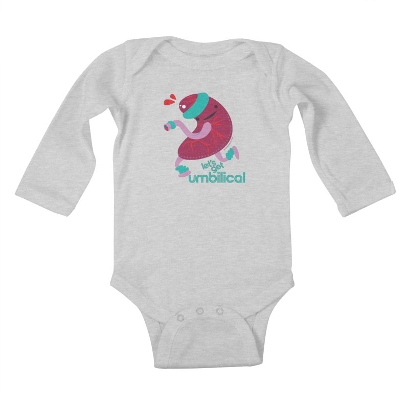 Placenta - Let's Get Umbilical Kids Baby Longsleeve Bodysuit by I Heart Guts