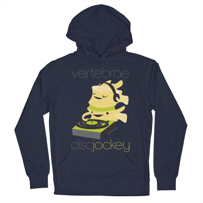 Vertebrae - Disc Jockey Men's French Terry Pullover Hoody by I Heart Guts